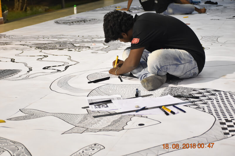 INDIA'S LARGEST ZENTANGLE FOR LIMCA BOOK OF RECORDS