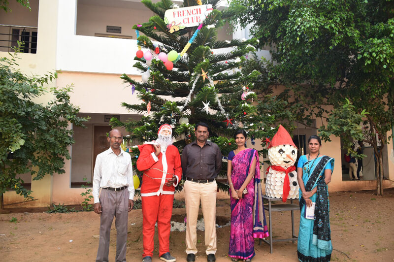 Christmas celebration at NIFT-TEA By french club