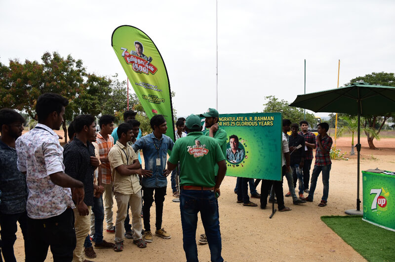 7up voice audition at NIFT-TEA