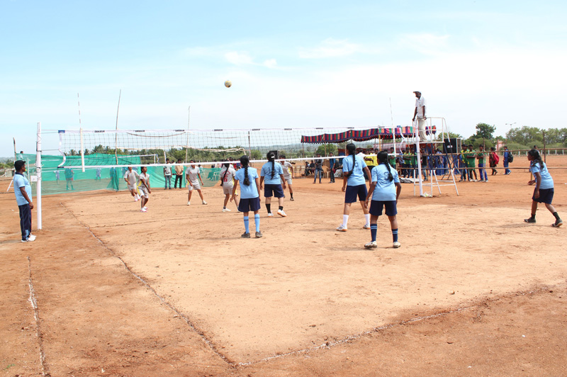 Bharathiar University Intercollegiate Volleyball (W) Tournament 2015 -16 - Inaugural Function