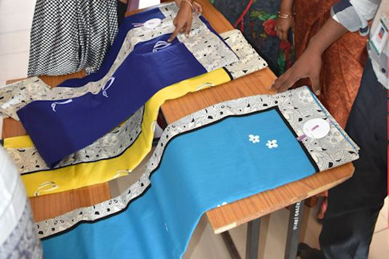 Exhibition cum sales on self-designed sarees by MBA(AB) Students