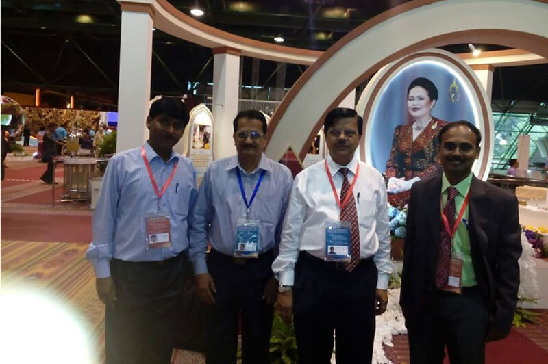 Mr.Senthilkumar, presented a paper on silk Knitwear, developed in Nift-Tea, in the International conference held at Bangkok