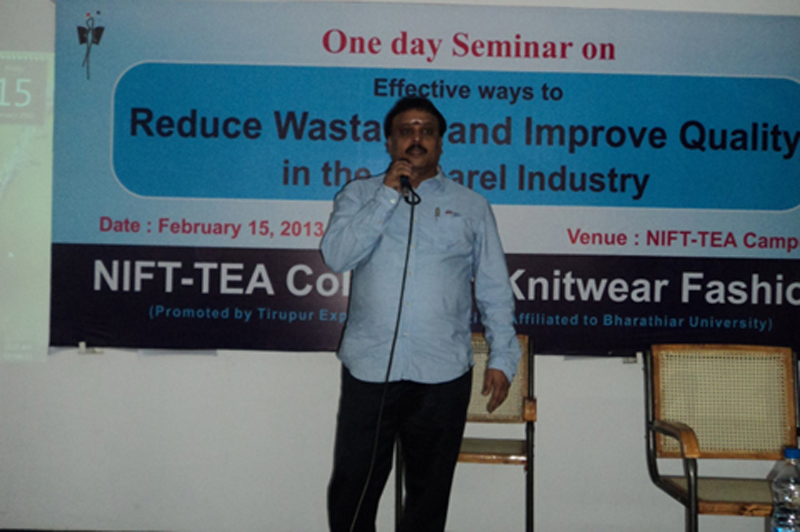 One Day Seminar on Effective Ways to Reduce Wastage and Improve Quality in the Apparel Industry