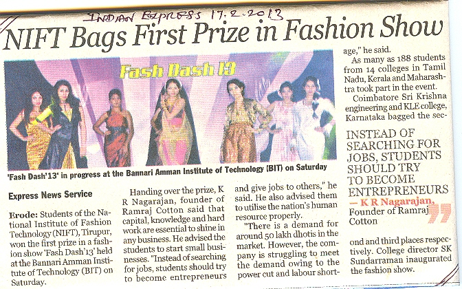 NIFT-TEA students won first prize