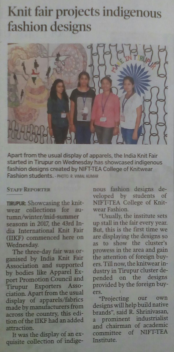 Participation in 43rd India International Knit Fair at IKF Complex