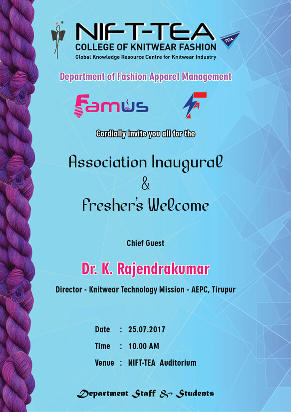 """FAMus"" Association Inauguration and Fresher's Day Celebration"