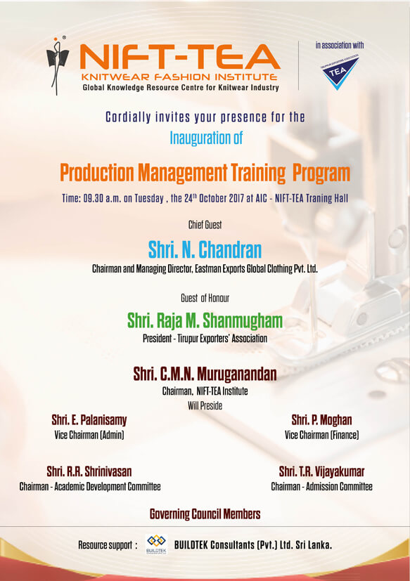Inauguration of Production Management Training Program