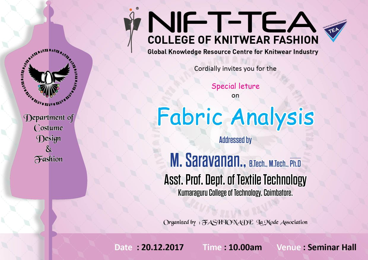 Special Lecture on FABRIC ANALYSIS