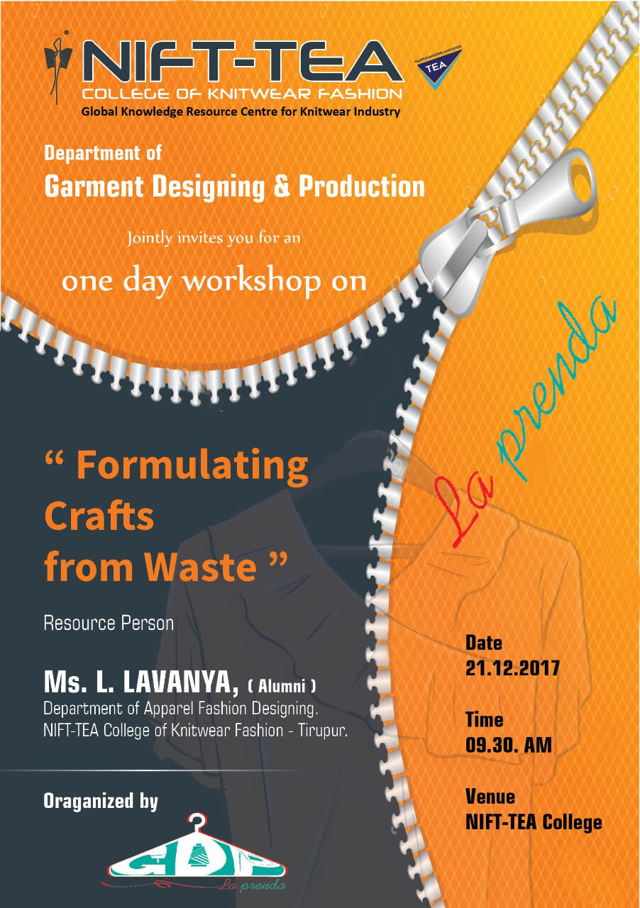 "One Day Workshop on ""Formulating Crafts from Waste"""