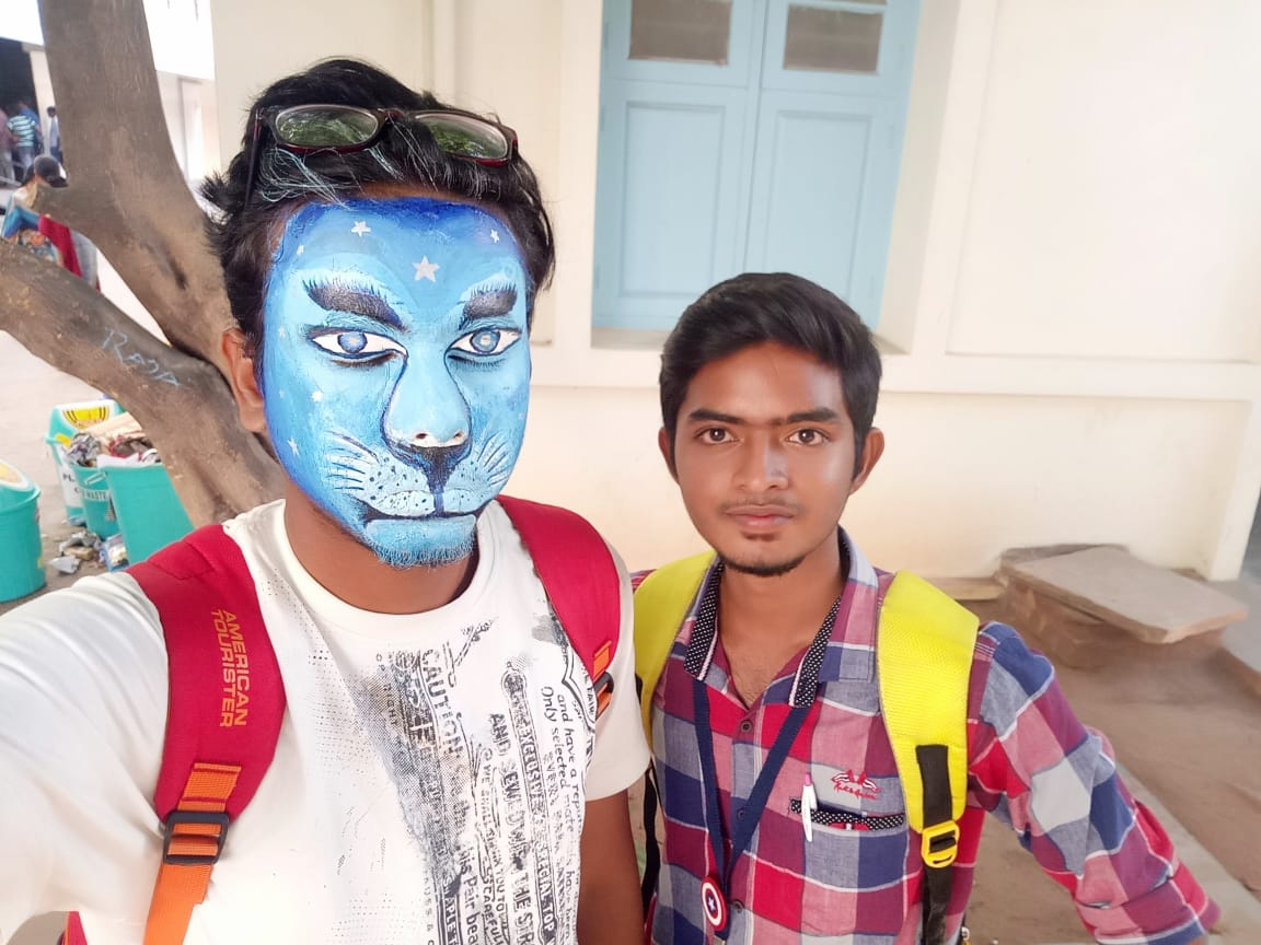 Mr.N.Padmanabun of II GDP and Mr.S.Jaya Siva Gunalan of I AFD won Ist place in face painting