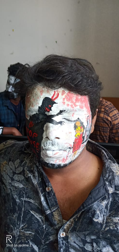Our student Arvind bharathi and Vikram of II Bcom got first place in face painting conducted by Sasuri arts and science college.