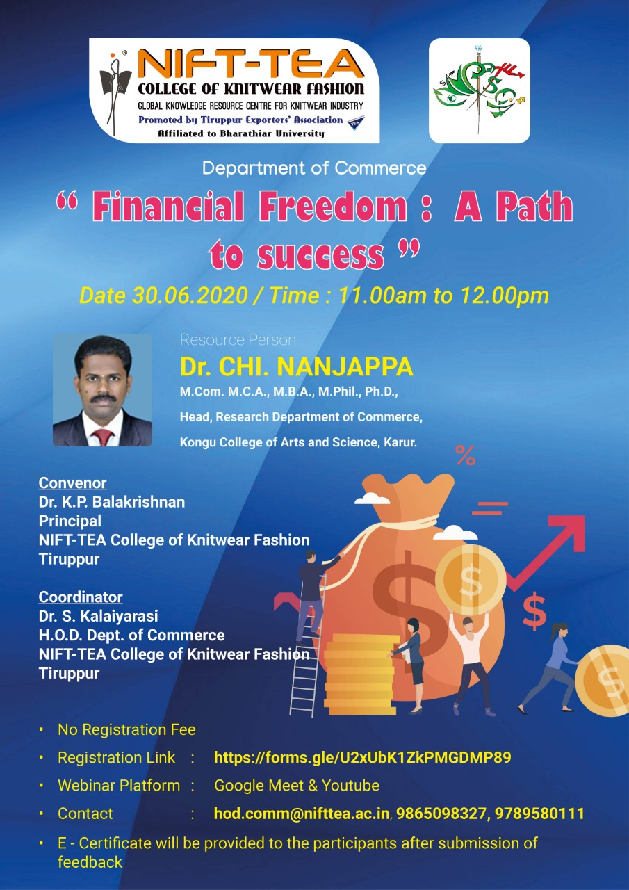Webinar on FINANCIAL FREEDOM: A PATH TO SUCCESS